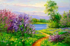 Lilac by the river