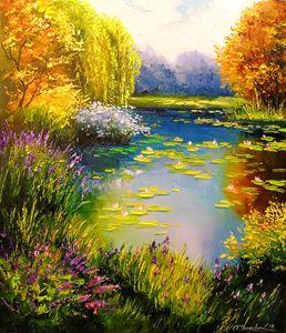 Blooming pond