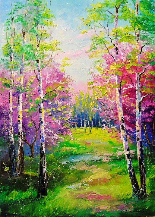 Spring birch trees - Olha Darchuk
