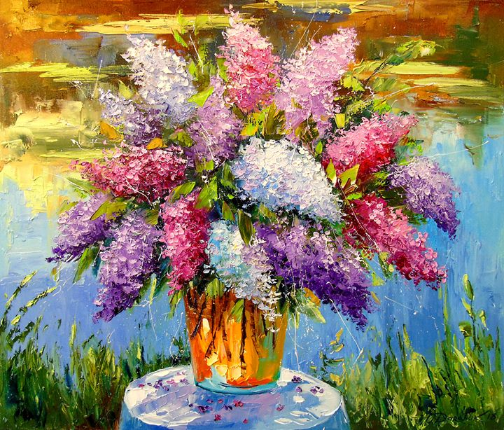 A bouquet of lilacs at the pond - Olha Darchuk