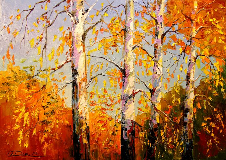 Autumn birch - Olha Darchuk