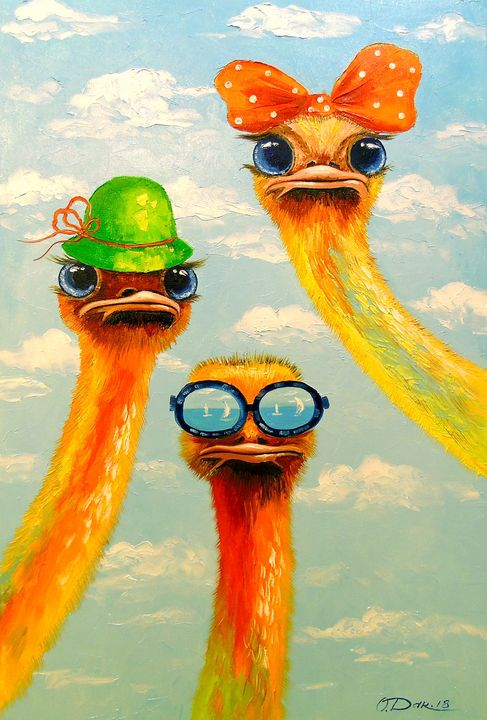 Ostriches friends - Olha Darchuk