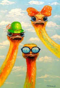 Ostriches friends