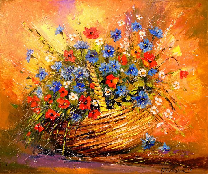 Basket with flowers - Olha Darchuk