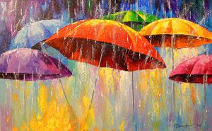 Dancing umbrellas