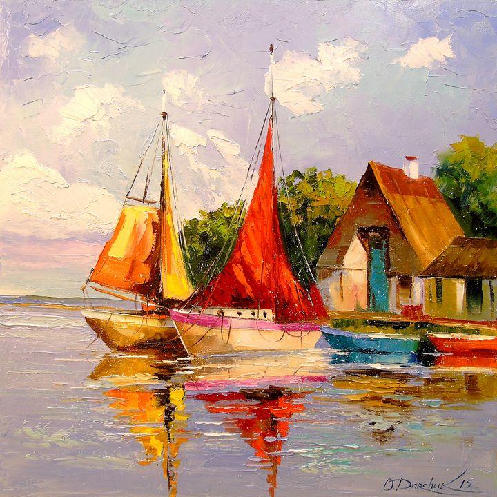 Sailboats near the shore - Olha Darchuk