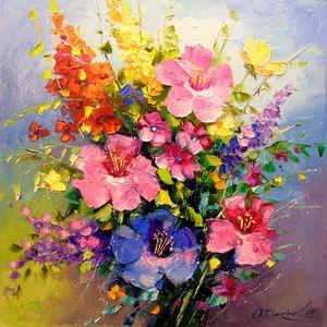 A bouquet of meadow flowers