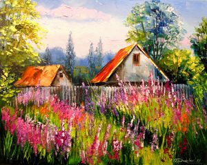 In the summer in the village