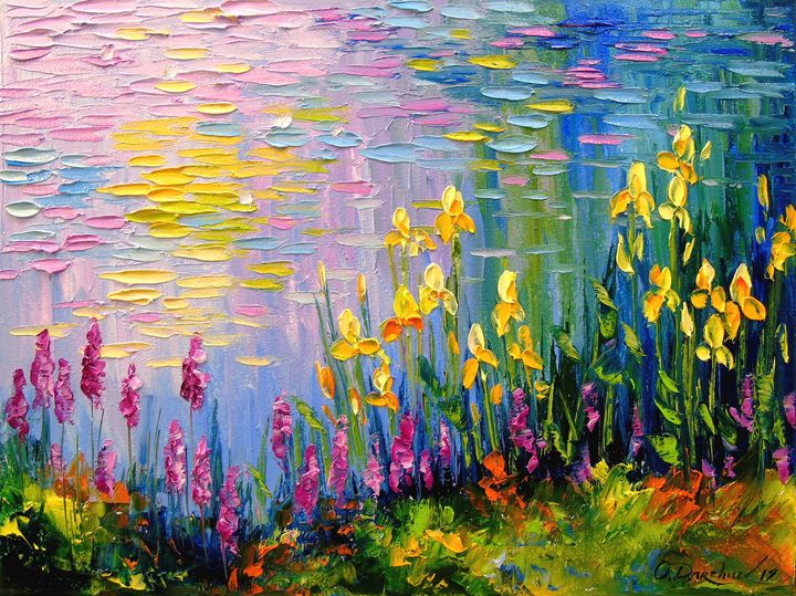 Flowers at the pond - Olha Darchuk