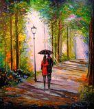 Park art, rain art, landscape art, b