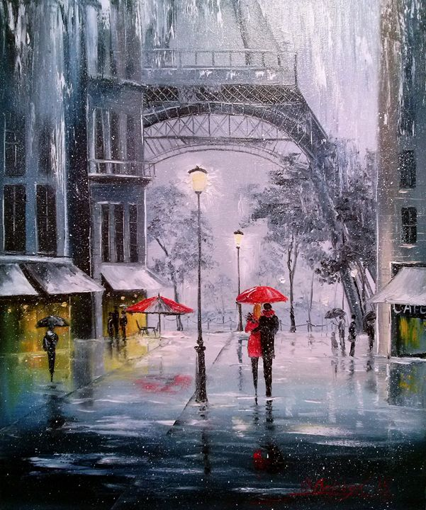 First Snow In Paris - Olha Darchuk