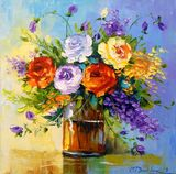 Roses,flowers,art,painting,bouquet a