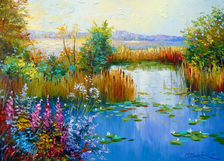 Flowers by the pond - Olha Darchuk
