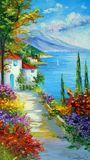 Sea, art, painting, landscape art,
