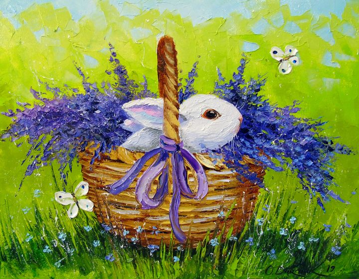 Rabbit in lavender - Olha Darchuk