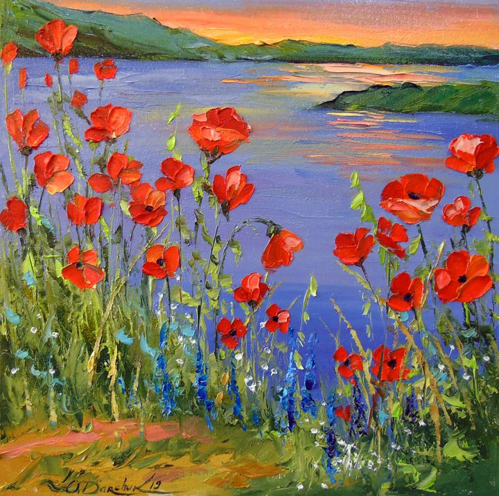 Poppies by the river - Olha Darchuk