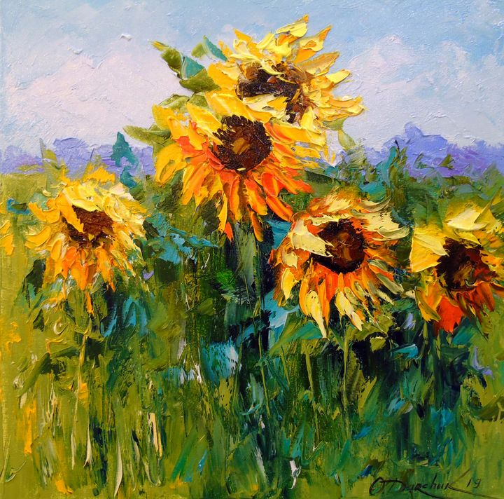 Sunflowers in the wind - Olha Darchuk