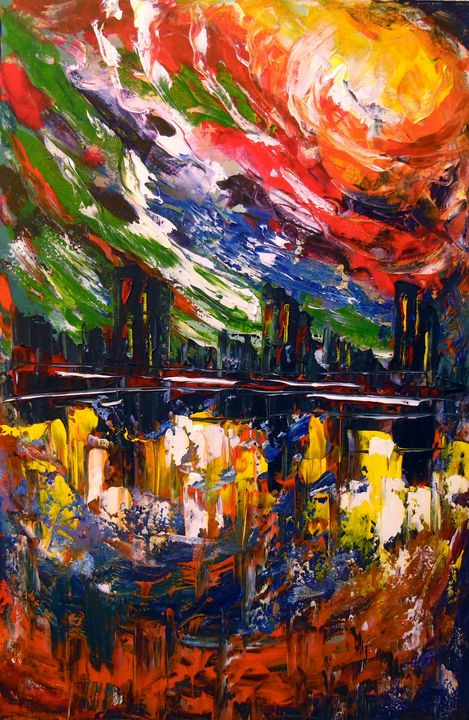 Bright storm over the city - Olha Darchuk