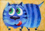 Cats art, painting,cat art,funny art