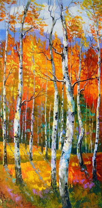 Birch in sunlight - Olha Darchuk