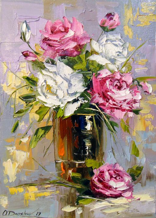 Bouquet of delicate roses - Olha Darchuk