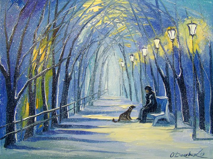 Winter evening - Olha Darchuk