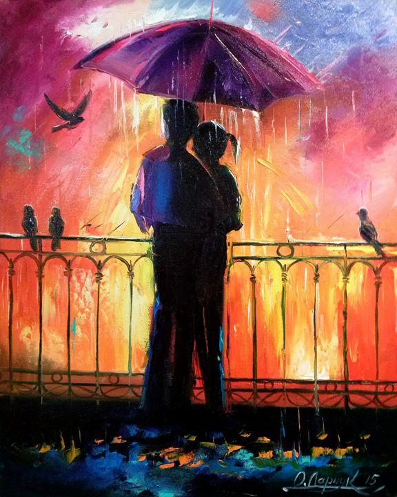 Lovers Under Umdrella - Olha Darchuk