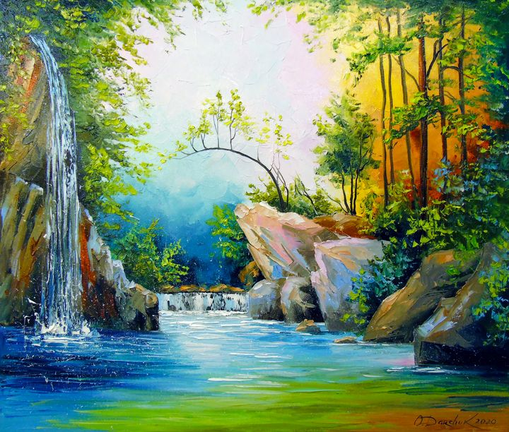 In the forest by the waterfall - Olha Darchuk