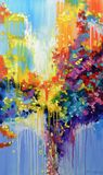 Abstract art, painting, thinking art
