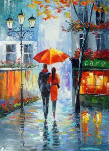 Romantic walk around the city