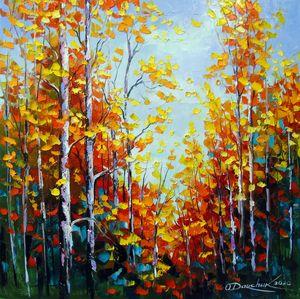 Autumn breath of birches