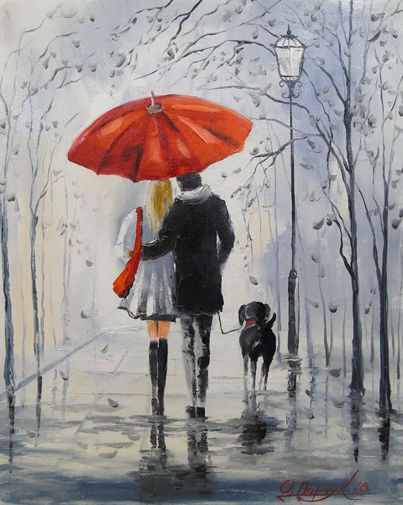 Walking in the rain - Olha Darchuk