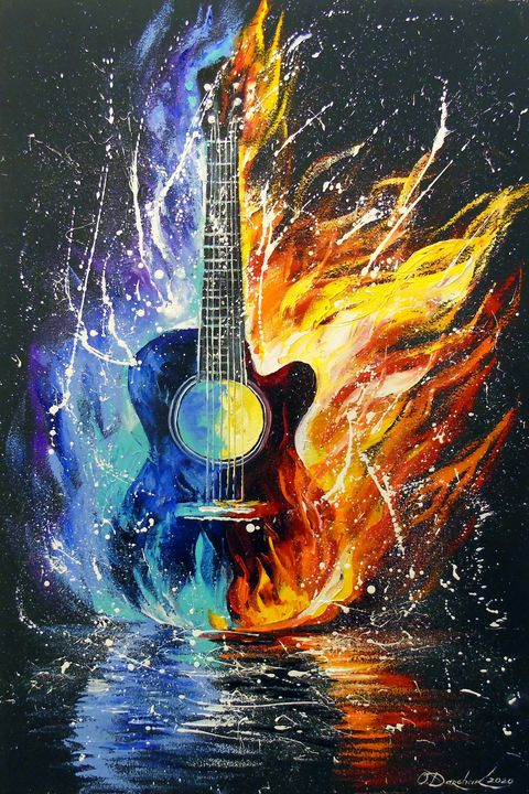 Bass guitar - Olha Darchuk