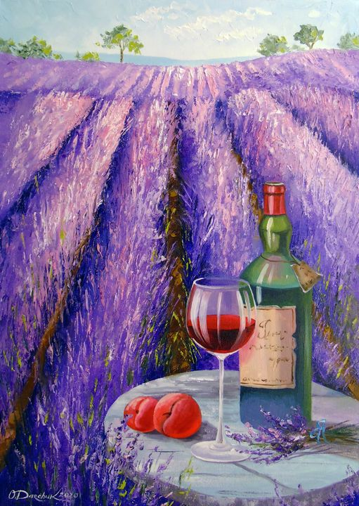 Lavender, wine and fruit - Olha Darchuk