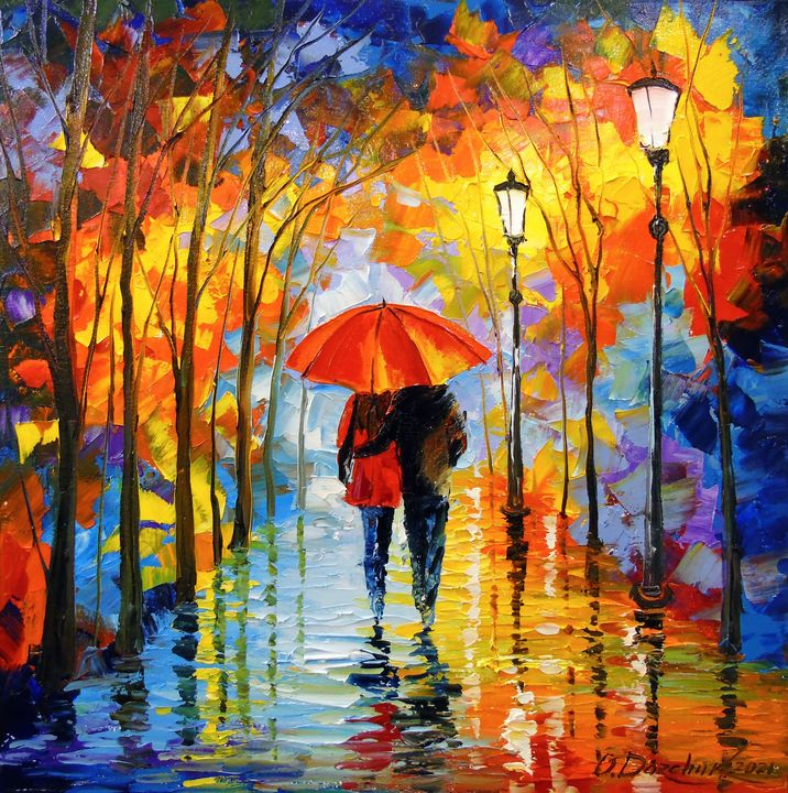 Romance in the autumn park - Olha Darchuk