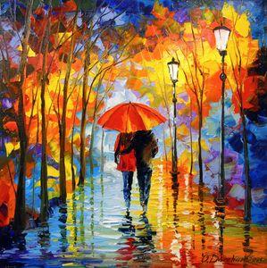 Romance in the autumn park