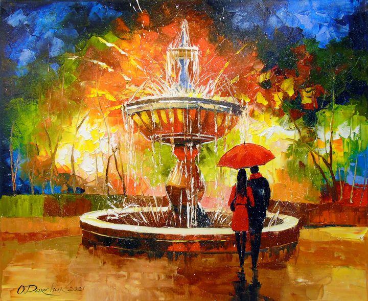 Romantic meeting at the fountain - Olha Darchuk