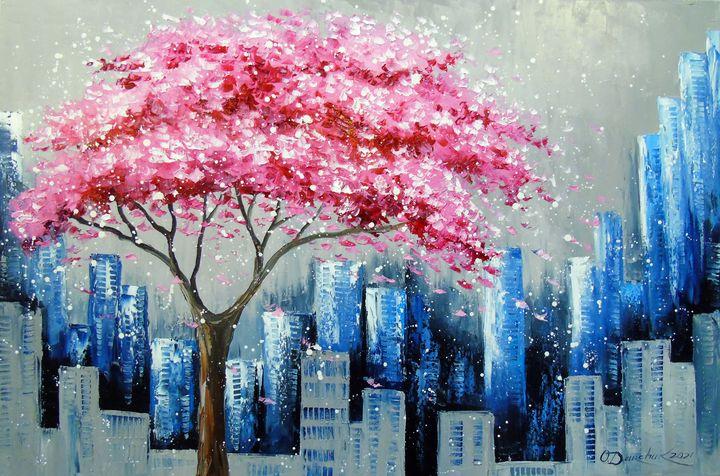 Cherry blossom in New York - Olha Darchuk