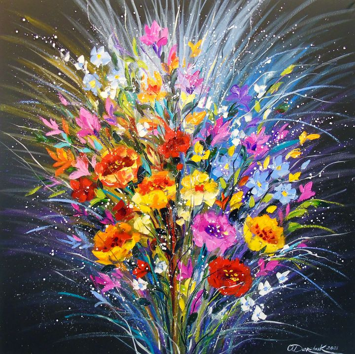 Bouquet of flowers for happiness - Olha Darchuk