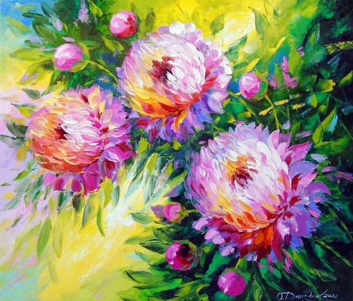 Peonies in the sunbeam - Olha Darchuk