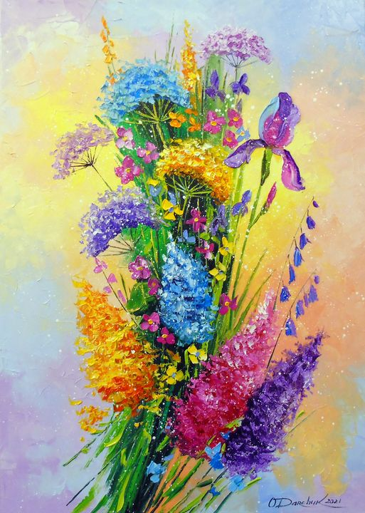 Bouquet of meadow flowers - Olha Darchuk