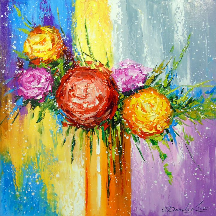 Bouquet of bright flowers - Olha Darchuk