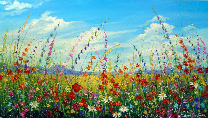 Field of summer flowers - Olha Darchuk