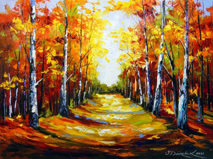Birch road to light - Olha Darchuk