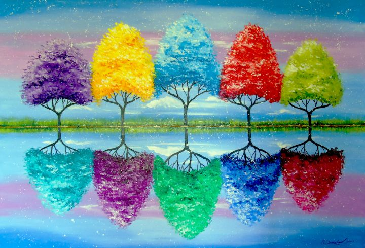 Each tree has its own colorful histo - Olha Darchuk