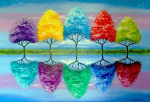 Each tree has its own colorful histo