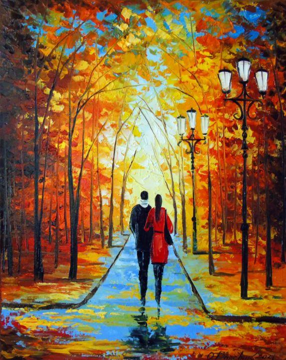 Autumn walk in the park - Olha Darchuk