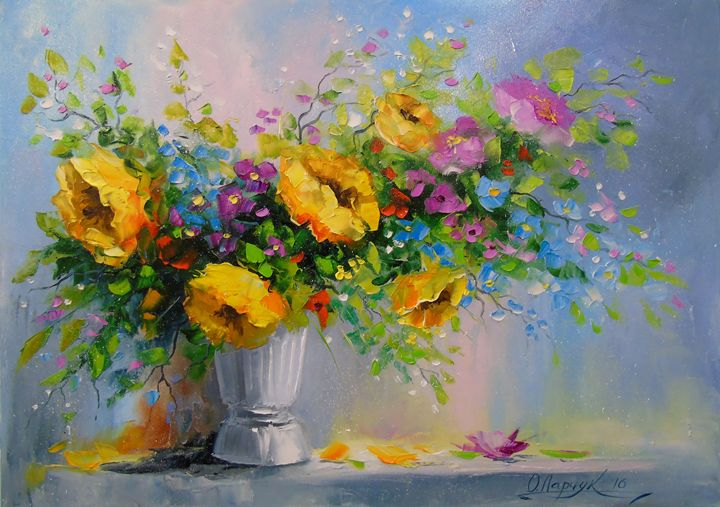 Bouquet of yellow flowers - Olha Darchuk