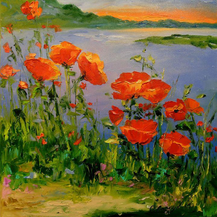 Poppies near the river - Olha Darchuk