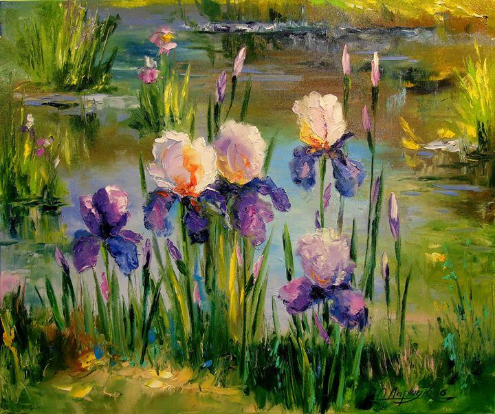 Iris by the pond - Olha Darchuk